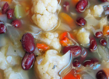 Cozy Cauliflower and Kidney Bean Soup