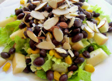 Salad Combo Idea: Almonds, Apples, Beans, and Corn Salad