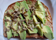 Easy Avocado and Hummus Topped Toast