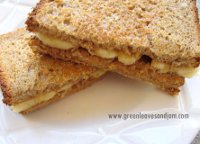 Toasted Peanut Butter and Banana sandwich