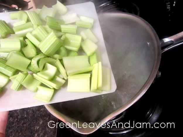 How To: Blanch And Freeze Celery