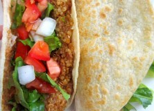 Crispy Corn Tortilla, Quinoa And Refried Bean Tacos