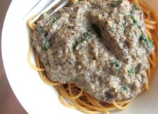 Mushroom and Spinach Pasta Sauce