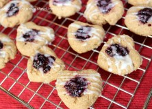 Valentine's Day Healthy Thumbprint Cookies
