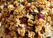 Homemade Granola with Almonds, Craisins and Chocolate
