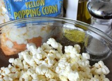 Homemade Popcorn, A delicious healthy and easy snack